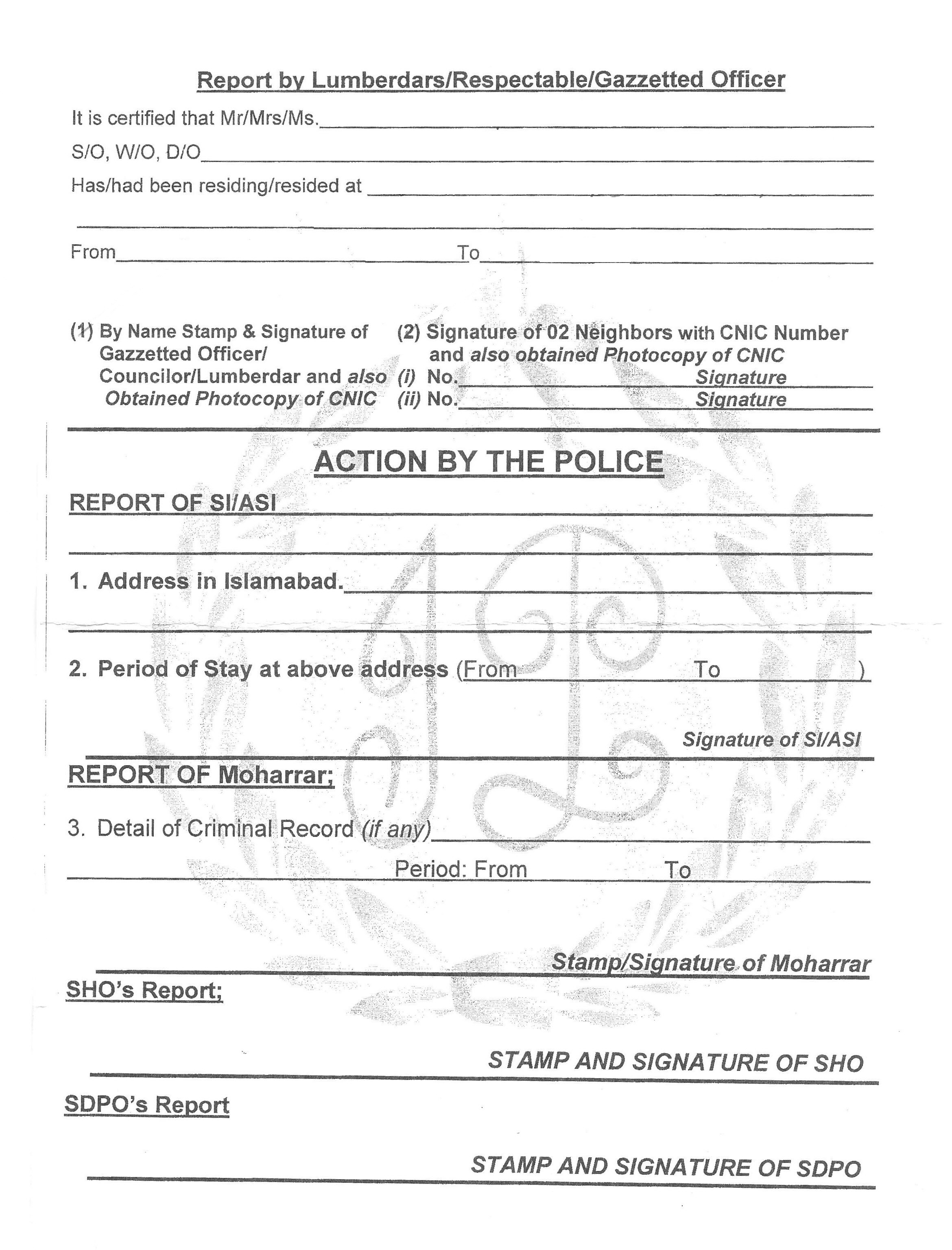 national police clearance application form victoria
