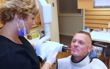 x ray application in dentistry