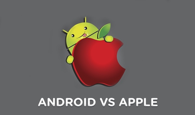 application battle iphone et android