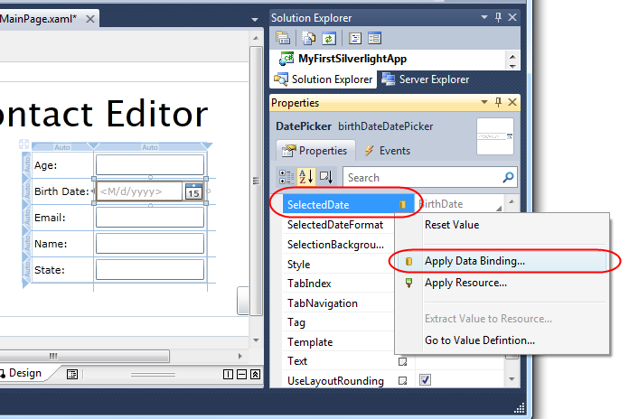 sample wcf application with vs 2010