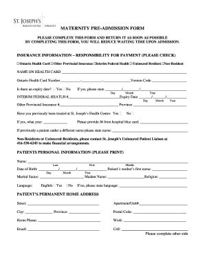 maternity leave online application form ontario