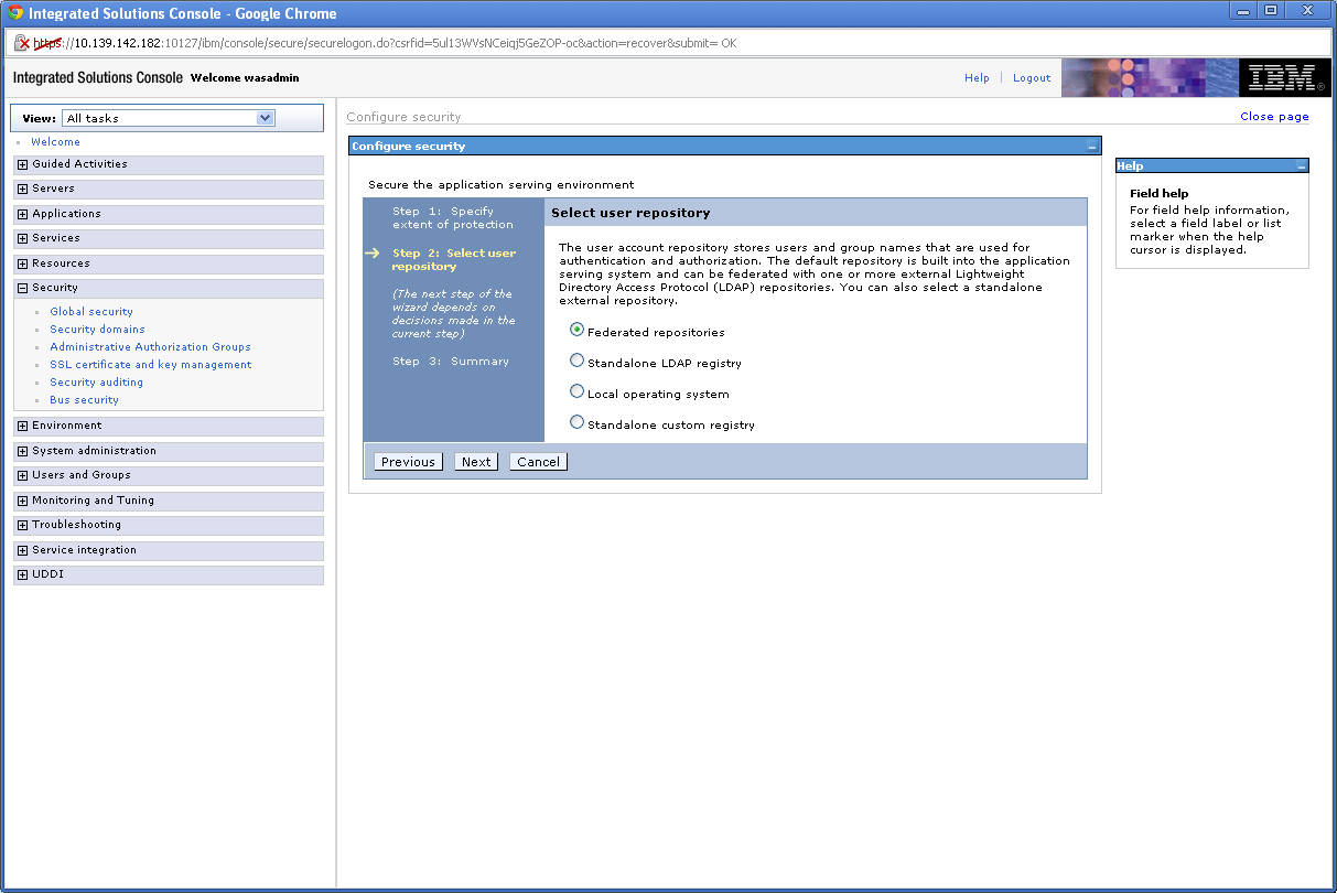 websphere application server web services security