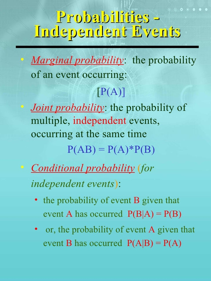 probability concepts and applications independent events