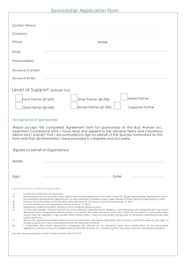 where to mail my sponsorship application