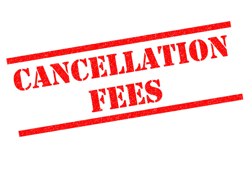 mortgage broker cancellation fee for a cancelled mortgage application