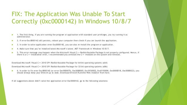 application was unable to start correctly 0c000000005