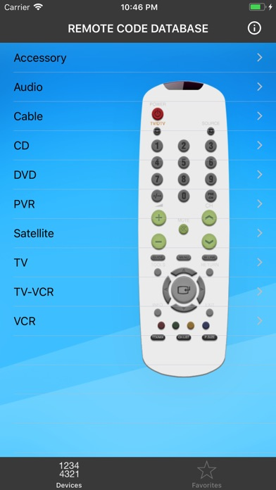 application android pour telecommande universelle