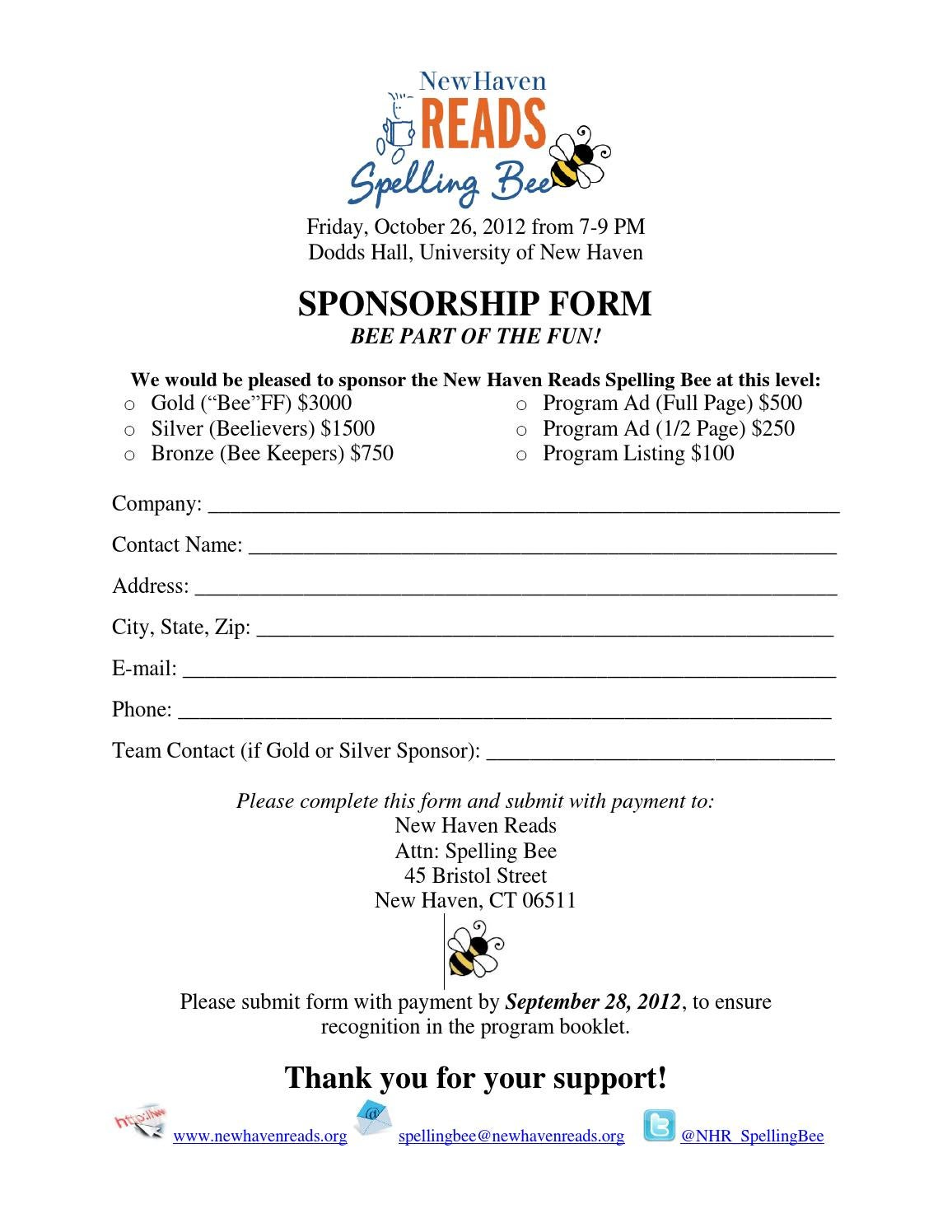 how to submit your sponsorship application in mail