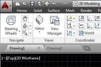 where is the application menu in autocad